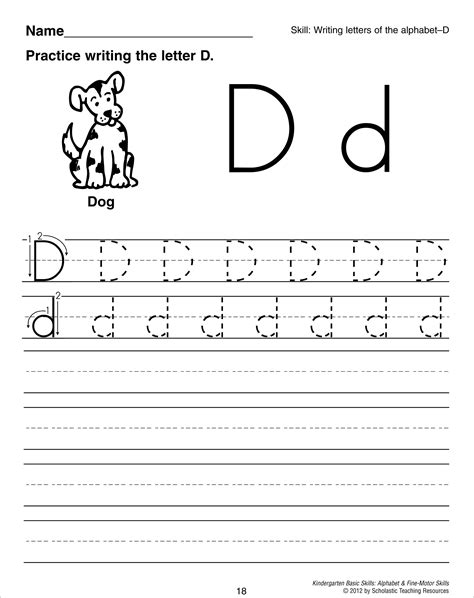 alphabet worksheets letter d 12 best images of letter d worksheets preschool alphabet