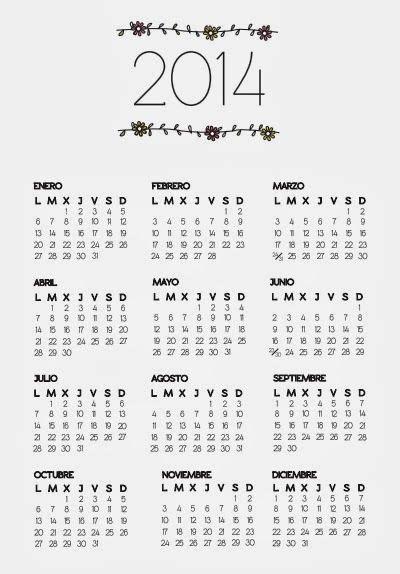 calendario para colorear calendario 2014 para imprimir gratis http dibujos para