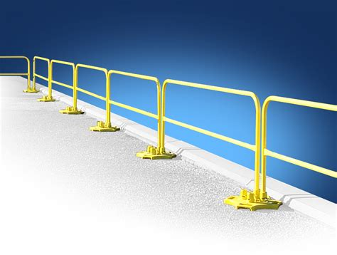 roof fall protection guardrail system safetyrail 2000