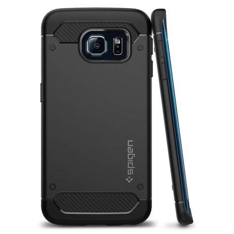 Casing Samsung S7 Edge Carbon Fiber Armor Rugged Soft Back Cover spigen 174 rugged armor sgp11414 samsung galaxy s6 edge