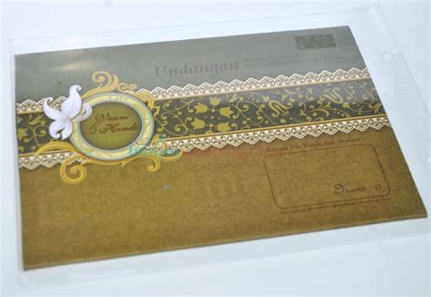 Murah Undangan Hardcover Mk Coklat Gold undangan pernikahan hardcover murah hrc12 banjar wedding