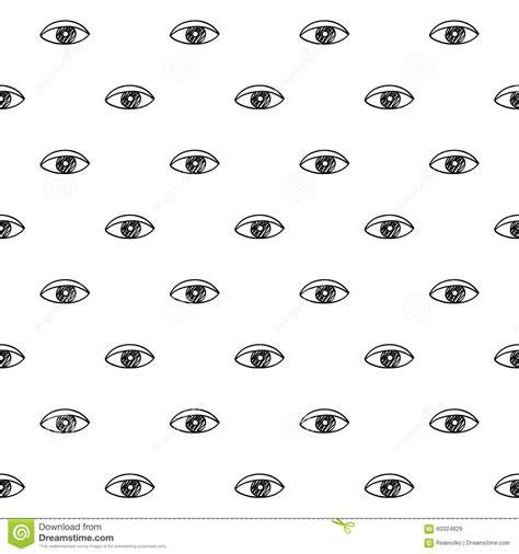 eye pattern meaning eyes scribble sketch pattern background stock vector