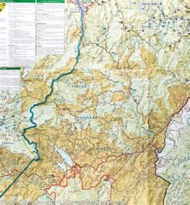 trail map of pisgah ranger district pisgah national