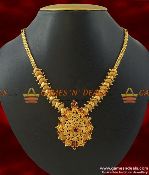 south hill design necklaces nckn208 gold plated jewellery kerala type party wear