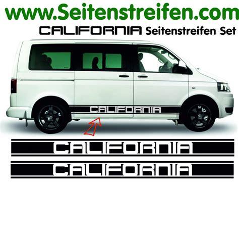 Vw California Aufkleber by Vw Bus T4 T5 California Bus Seitenstreifen Aufkleber Set