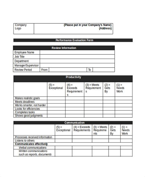 Sle Retail Appraisal Forms 8 Free Documents In Pdf Doc Salesperson Performance Review Template