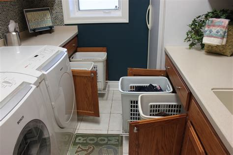 Marvelous Laundry Sorter In Laundry Room Traditional With Pull Out Laundry For Cabinet