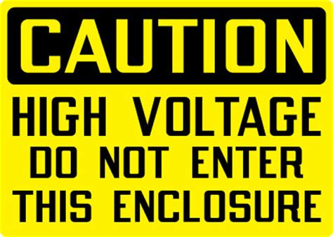 high voltage construction standards electrical safety sign caution high voltage do not