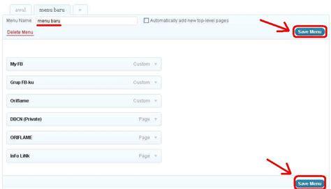 cara membuat tilan menu di blog wordpress cara membuat menu dan sub menu di wordpress blog daruttaklim