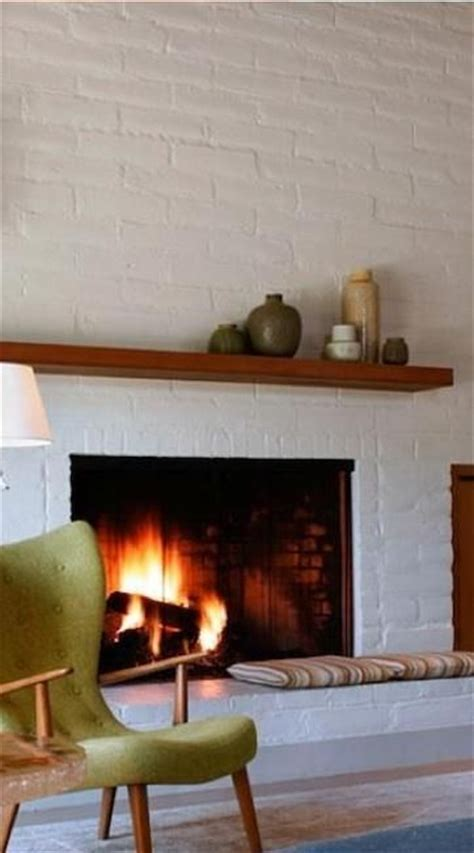 living dining brick fireplaces painted white