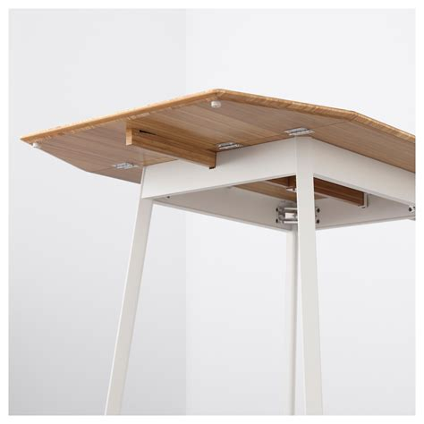 ikea leaf ikea ps 2012 drop leaf table bamboo white 74 106 138x80 cm