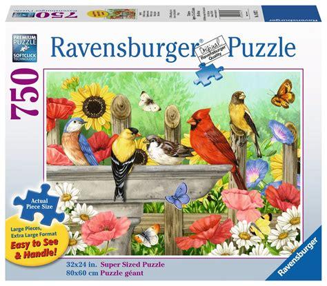 ravensburger bathing birds large format puzzle  pieces