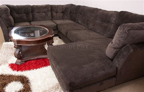 brown suede couch mocha brown suede fabric modern 3pc sectional sofa