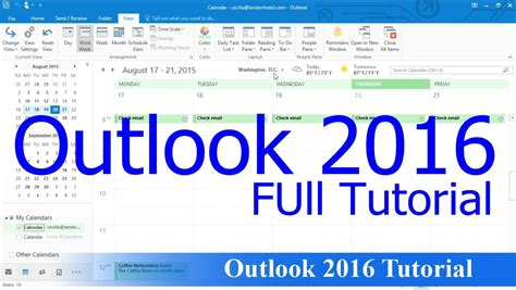 tutorial video outlook 2010 outlook 2016 tutorial 2 40 hour