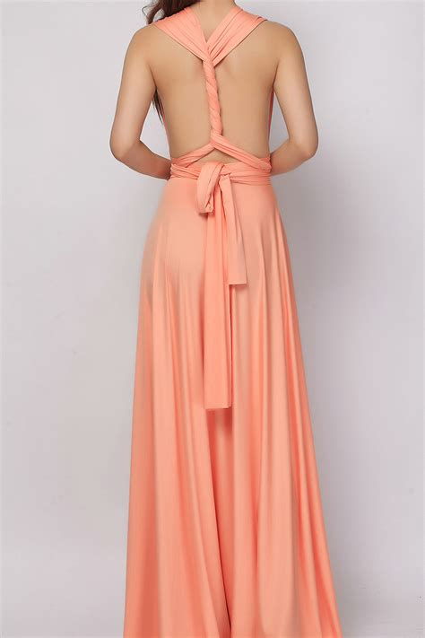 Salmon Dress salmon infinity dress bridesmaid dress lg 40 73