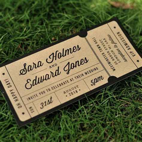 ticket wedding invitation template 25 best ideas about ticket design on ticket