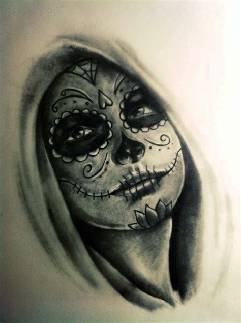 day of the dead face tattoo 35 day of the dead tattoos
