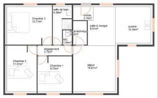 Plan Maison 90m2 Plain Pied 4345 by Maison 90m2 Top Maison