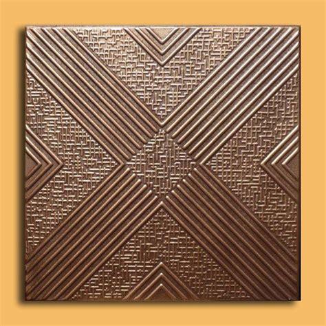 Brown Ceiling Tiles 20 Quot X20 Quot Malta Antique Bronze Brown Ceiling Tiles Antique