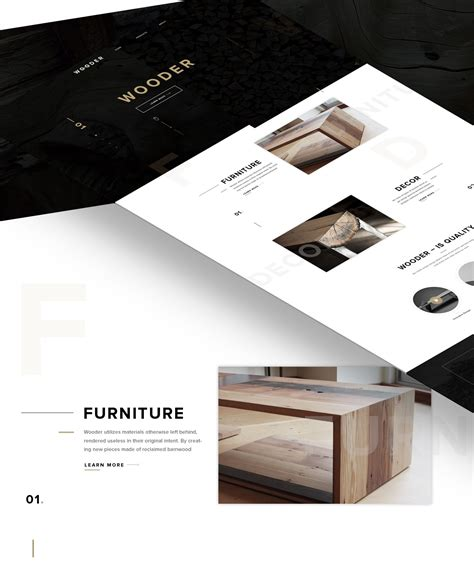 Wooder Free Psd Website Template For Wood Furniture Company Freebiesui Psd Website Templates Free 2017