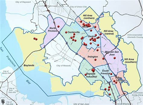 california map fremont in places city of fremont official website