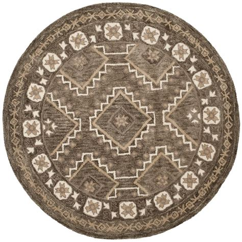 5 ft rugs safavieh brown taupe 5 ft x 5 ft area rug