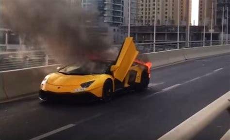 Lamborghini Burning Lamborghini Aventador Sv On Welcome To Dubai Autotalk