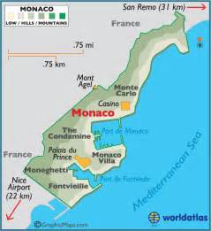 Monaco World Map by Monaco Large Color Map
