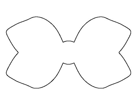 printable hair templates hair bow pattern use the printable outline for crafts