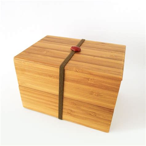 Stack Lunch Box bamboo bento box is a contemporary stack able lunch box