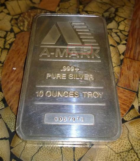 10 troy ounce 999 silver bar a 10 troy ounce bar 999 silver