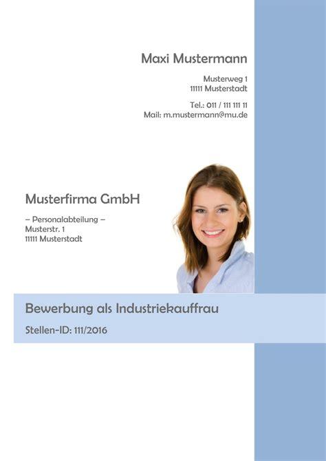 Bewerbung Industriekauffrau Lehrstelle deckblatt in der bewerbung 252 ber 100 kostenlose muster