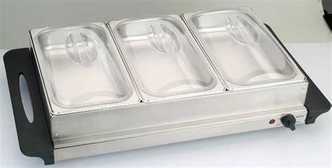 china triple buffet server warmer warming tray 3 1 5qt