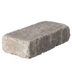 home depot pavers 16x16 pavestone rumblestone mini 3 5 in x 7 in greystone