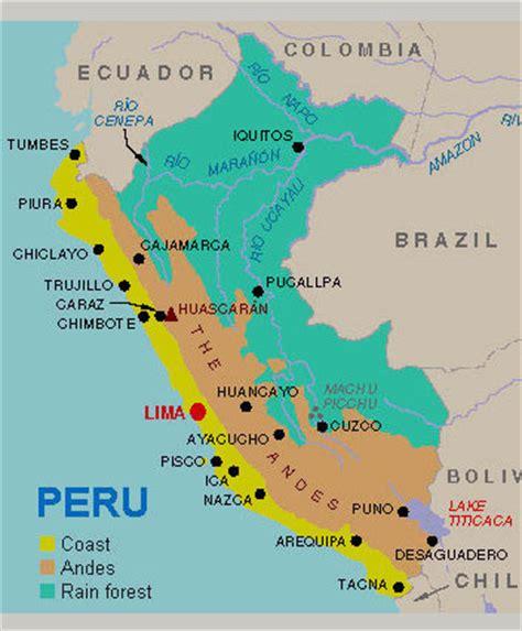 peru on the map maps peru