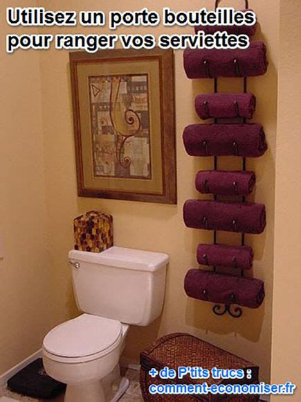 besoin de place voici un rangement porte serviettes