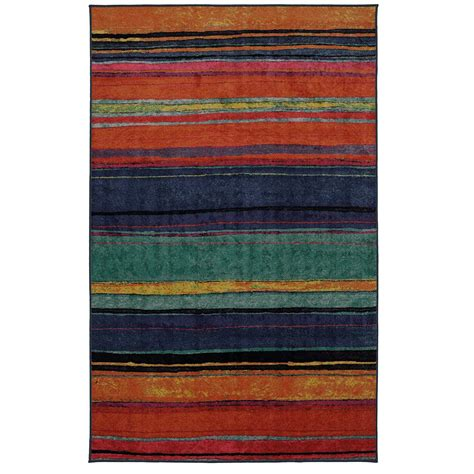 Rainbow Area Rug Mohawk Home Rainbow Kaleidoscope 5 Ft X 8 Ft Area Rug 521462 The Home Depot