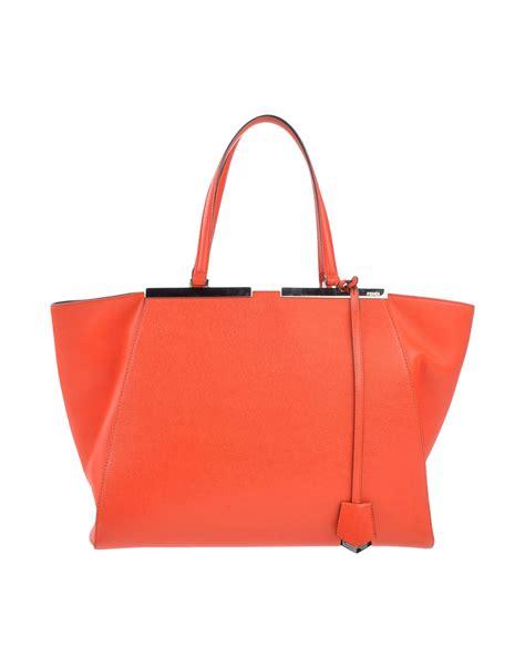 Fendi Coral Pink Embossed Satin Handbag by Fendi Handbag In Pink Coral Lyst