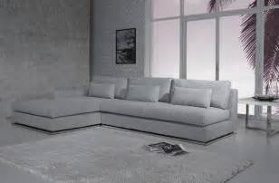ashfield modern light grey fabric sectional sofa