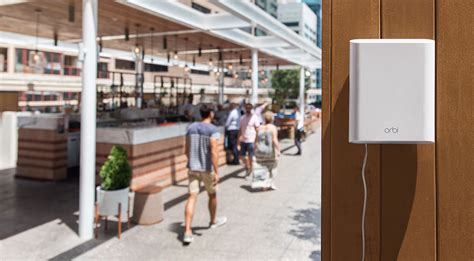 Add On Orbi Outdoor Satellite Rbs50y - netgear brings mesh wi fi to your yard with outdoor orbi