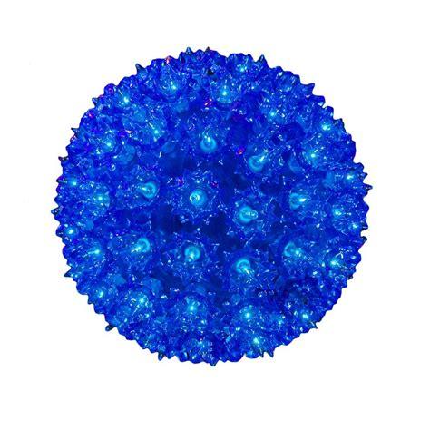 100 blue light 7 5 quot starlight sphere 100 light blue christmas lighted ball