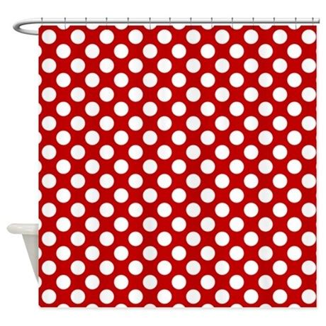 red white shower curtain red white dots pattern shower curtain by dreamingmindcards