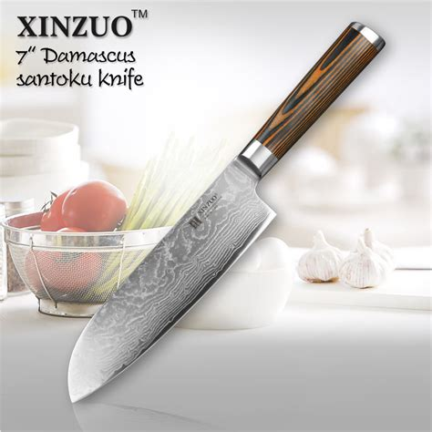 7 quot inches chef knife japanese vg10 damascus steel kitchen xinzuo 7 quot inch japanese chef knife damascus steel kitchen