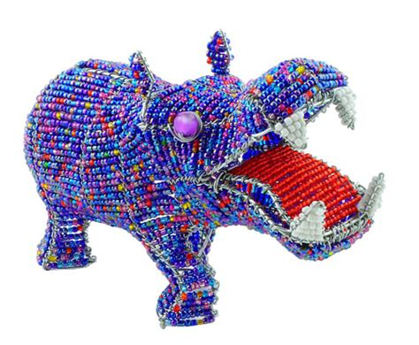 bead and wire animals beaded hippo wireworx beaded animal figurine