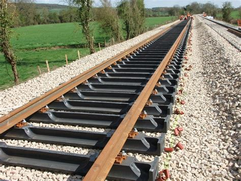 Sleepers Railway by Rail Sleepers From Plastics Strong Resilient Klp