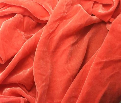 Coral Velvet Upholstery Fabric by Coral Silk Velvet Fabric 1 Yard