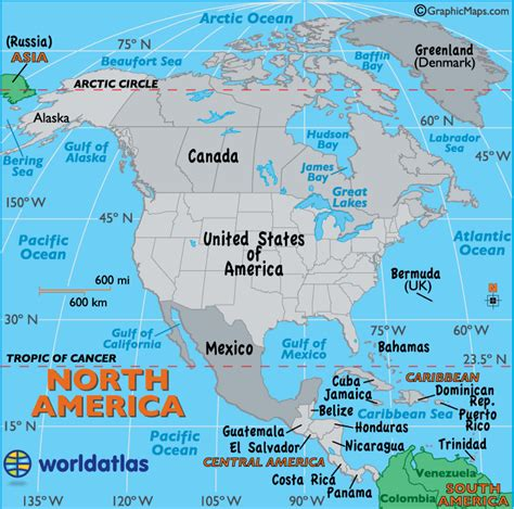 north america map map  north america facts geography history  north america