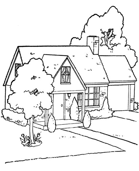 Free Printable House Coloring Pages For Kids Coloring Page House