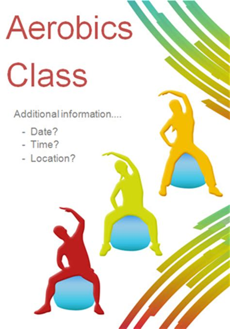 editable fitness class poster free early years amp primary