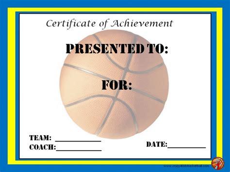 basketball certificates templates free basketball award certificates ideas